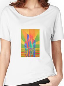 Dreamboat - Cubist Junk In Primary Colors Women's Relaxed Fit T-Shirt