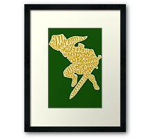 Legend of Zelda Typography Framed Print