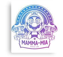 Super Mario Ate One Spicy Mushroom Canvas Print