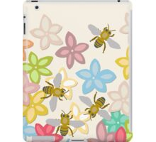 Indian Summer flowers and bees iPad Case/Skin