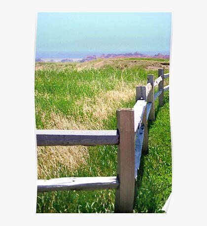 Badlands Fence Poster