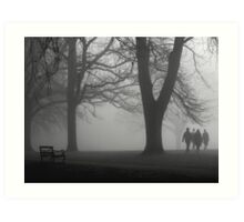 Misty Morning in the Park Art Print