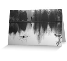 Foggy Morning, Reflection Greeting Card