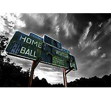 Old Baseball Scoreboard - The Diamond- Greenham Photographic Print
