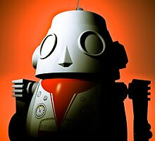 Retro Cropped Toy Robot 01 by mdkgraphics