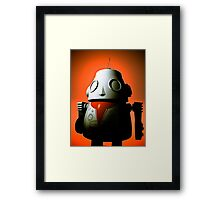 Retro Cropped Toy Robot 01 Framed Print