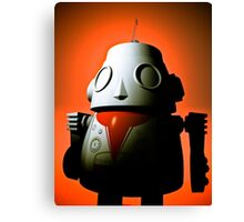 Retro Cropped Toy Robot 01 Canvas Print