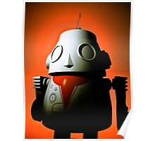 Retro Cropped Toy Robot 01 Poster