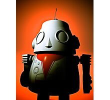 Retro Cropped Toy Robot 01 Photographic Print