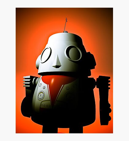 Retro Cropped Toy Robot 01 Photographic Print