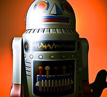 Retro Cropped Toy Robot 02 by mdkgraphics