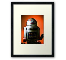 Retro Cropped Toy Robot 02 Framed Print