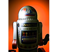 Retro Cropped Toy Robot 02 Photographic Print