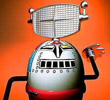Retro Cropped Toy Robot 03 by mdkgraphics