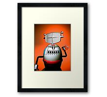 Retro Cropped Toy Robot 03 Framed Print