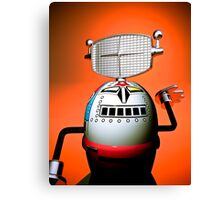 Retro Cropped Toy Robot 03 Canvas Print