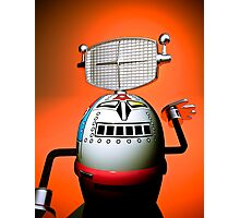 Retro Cropped Toy Robot 03 Photographic Print