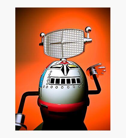 Retro Cropped Toy Robot 03 Photographic Print