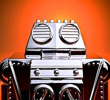 Retro Cropped Toy Robot 04 by mdkgraphics