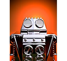 Retro Cropped Toy Robot 04 Photographic Print