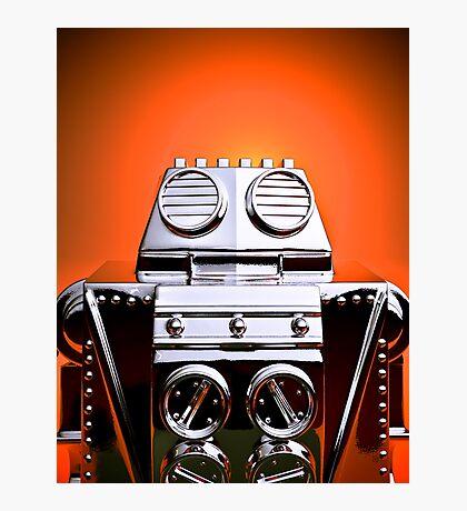 Retro Cropped Toy Robot 04 Photographic Print