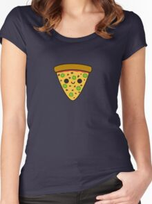 Yummy spicy pizza Women's Fitted Scoop T-Shirt