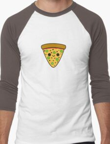 Yummy spicy pizza Men's Baseball ¾ T-Shirt