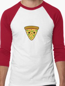 Yummy spicy pizza Men's Baseball ¾ T-Shirt
