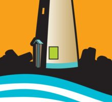 Santa Cruz California Lighthouse Sticker