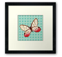 Yellow Red Butterfly Framed Print