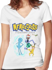 I Choose You!! Women's Fitted V-Neck T-Shirt