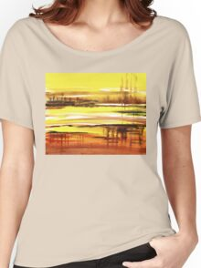 Reflection Abstract Landscape Women's Relaxed Fit T-Shirt