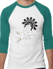 Penguin Flowers Men's Baseball ¾ T-Shirt