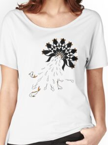 Penguin Flowers Women's Relaxed Fit T-Shirt