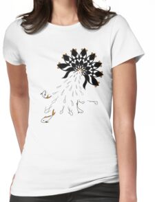 Penguin Flowers Womens Fitted T-Shirt