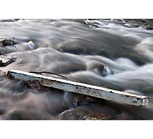 Silky Water and Solid Debris Photographic Print