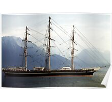 Cutty Sark, Morning in Fjord Poster