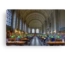 Reading Room Middle Canvas Print