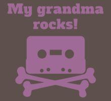 My Grandma Rocks Baby Tee