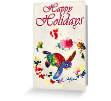 Inky  Wings Happy Holidays Greeting Card