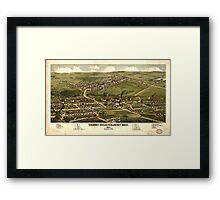 Panoramic Maps Calumet Hecla  Red Jacket Mich  1881 Framed Print