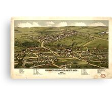 Panoramic Maps Calumet Hecla  Red Jacket Mich  1881 Canvas Print