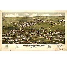 Panoramic Maps Calumet Hecla  Red Jacket Mich  1881 Photographic Print