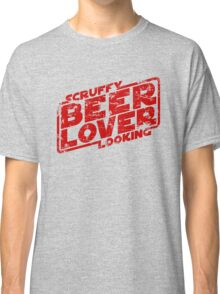 Scruffy Looking Beer Lover Classic T-Shirt