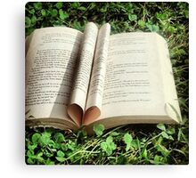 Love Reading Canvas Print