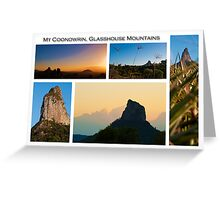 Mt Coonowrin, Glasshouse Mountains Greeting Card