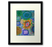 A closer Look at the Flower Universe Framed Print