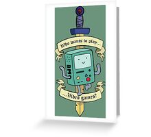Beemo - Wanna Play Video Games? Greeting Card