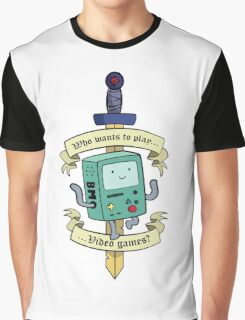 Beemo - Wanna Play Video Games? Graphic T-Shirt