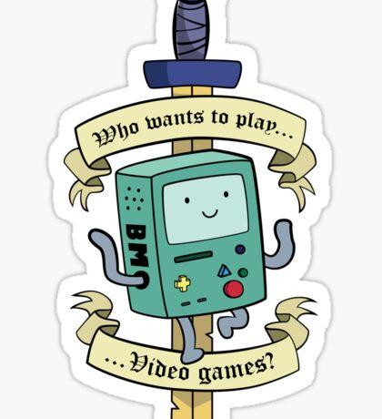 Beemo - Wanna Play Video Games? Sticker